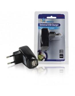 Adapter USB402, 220V-2x5V/500mA