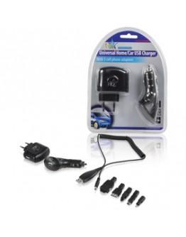 Adapter USB404, 220V - 5V/500mA + 12/24V - 5V/500mA