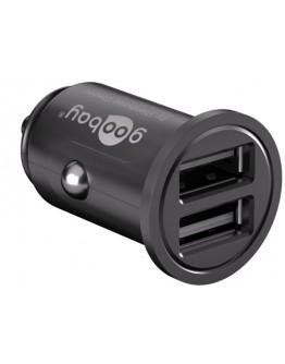 Adapter USB, 12V - 2x5V/2400mA