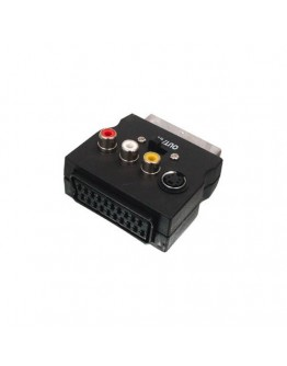 Adapter SCART-M.-3xRCA-F.,SVHS-F. and SCART-F.