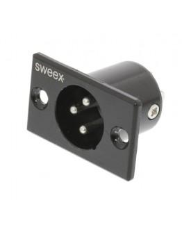 XLR plug -male-for panel mounting SWEEX