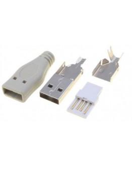 USB A plug-for cable, PLUG