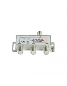 3-way CATV F-splitter, 5-1000 MHz