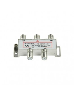 4-way CATV F-splitter, 5-1000 MHz