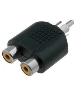 Adapter RCA-M.-2xRCA-F.-gold plated