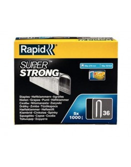 Rapid No. 36 Cable staple Superstrong wire 10 mm, 1000pcs.