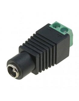 DC male plug 2.5х5.5mm with screw terminal