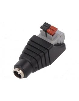 DC male plug 2.1х5.5mm with spring terminal