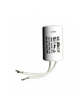 Capacitor for motors 8µF/450V+GRD