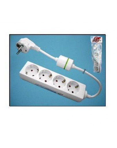 4-way power strip with surge protection