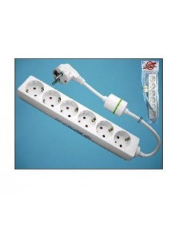 6-way power strip with surge protection