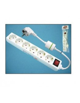 6-way power strip with surge protection and switch