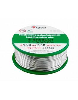 Tinol Cynel lead free 1mm 0.100kg SN99