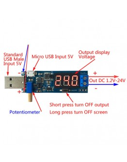 DC/DC step up module with USB 2А