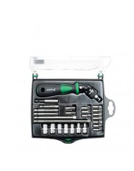 25 In 1 Reversible RatchetScrewdriverW/Bits & SocketsSet