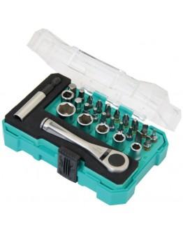 "27PCS 1/4"" Drive Socket& Screwdriver Set SD2318M"