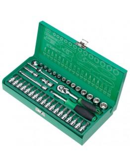 """38Pcs 1/4"""" Driver Socket Tool Set SK23801M"""