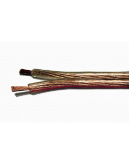 Speaker cable 2x1.50mm2 silicone transparent