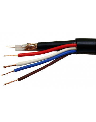 Coaxial cable RG59+2x0.5+2x0.22