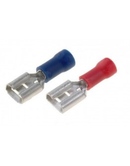 Cable terminal, isulated, female 6.3mm, KO10