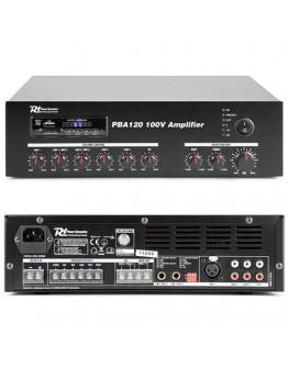 Amplifier 100V PBA120 (Bluetooth,USB, SD, AUX, FM, MIC, RC)