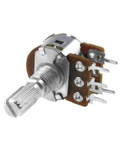 Potentiometers single turn, stereo