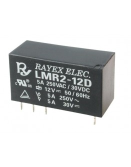 Relay LMR2-12D, 12V/5A with two contacts