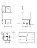 Automotive Relay HFV4/12-1Z, 12V/40A