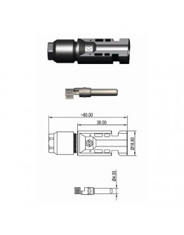 Male metal electric conductors SMC4 M