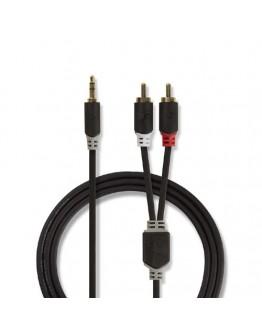 Cable Jack 3,5mm,M-2xRCA,M-3,00m NEDIS