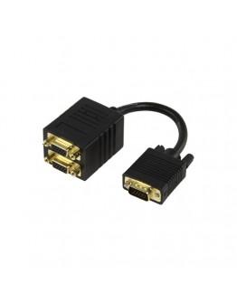 Cable VGA,M-2xVGA,F