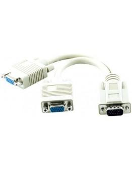 Cable VGA,M-2xVGA,F - K931