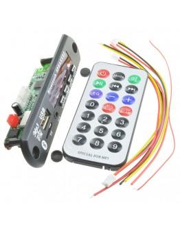 Remote control display audio mp3 module USB/SD/FM/BT
