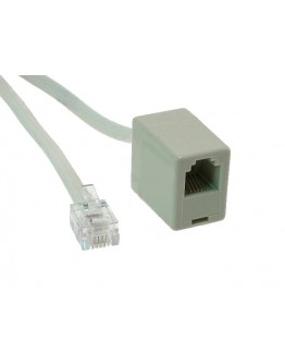 Extension telephone cable-7,50m