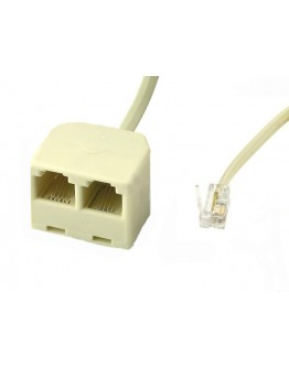 Telephone splitter cable-7,50m