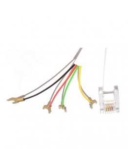 Telephone cable with terminals-7,50m