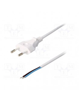 Power cable without plug-2x0,75mm2 WHITE